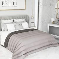 PETTI Artigiani Italiani Trapunta Due Piazze Letto Matrimoniale 2P Invernale, Microfibra, Grigio/Antracite, Standard (240x260 cm)