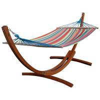 Amaca XL deluxe nobile 320cm con cornice in legno larice mod. 'CALETA'