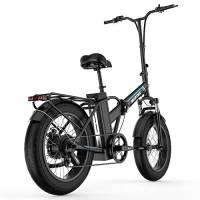 """Bicicletta Elettrica Pieghevole Fat Tire 20""""* 4"""" Con Batteria Agli Ioni Di Litio Da 48V15Ah, 750W Bicicletta Da Montagna Da Città A Lungo Raggio"""