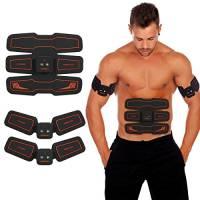 HURRISE ELETTROSTIMOLATORE per Addominali, EMS Stimolatore Muscolare, Stimolatore elettronico per la Pancia e la muscolatura in casa, per L'Ufficio Il Corpo Il Fitness