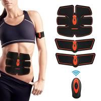Elettrostimolatore Muscolare, Stimolatore elettronico dei muscoli addominali, EMS Suscolo Addominale, Addominali Attrezzi ABS, Addome/Braccio/Gambe/Waist/Glutei Massaggi-Attrezzi
