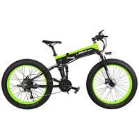T750Plus 27 Speed 26*4.0 Fat Bike, bici elettrica pieghevole 1000W 48V 10Ah batteria al litio nascosta, bicicletta da neve a sospensione completa (Nero Verde, 1000W Standard+ 1 batteria di ricambio)