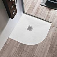 Piatto doccia semicircolare 80x80 3 cm in marmoresina disponibile in 6 colori I