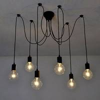 Lixada - base lampadine lampadario pendente (6 braccia)