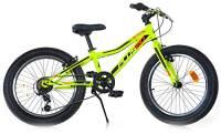 "giordanoshop Bicicletta Fat-Bike Ragazzo 20"" 6V Aurelia MTB Plus Gialla"