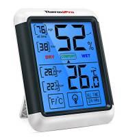 ThermoPro TP55 Termometro Igrometro Digitale da Interno per Casa Misuratore di Umidità e Temperatura da Ambiente Termoigrometro Professionale con Schermo Touchscreen e Retroilluminazione