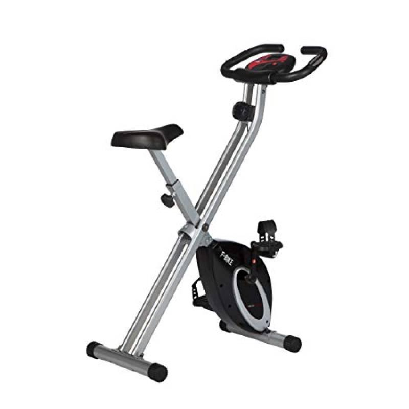Ultrasport F-Bike, Cyclette da Allenamento, Home Trainer, Bici da Fitness Pieghevole con Computer di Allenamento e Sensori delle Pulsazioni, Peso massimo: 110 kg, Nero