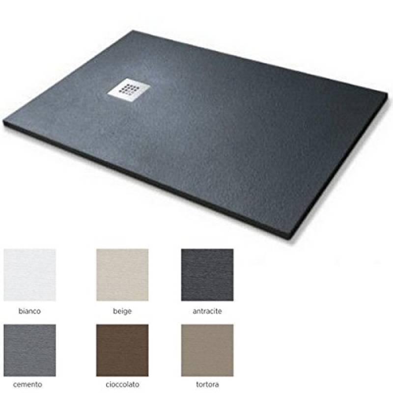 Piatto doccia quadrato rettangolare marmoresina 3 cm 70x90 in 5 colori anche su misura I