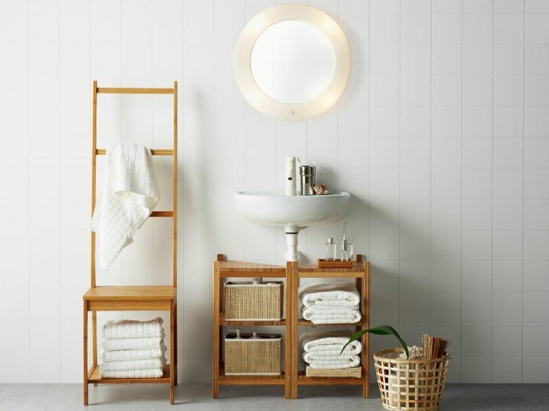 Mobili per il bagno fai da te il porta asciugamani con il