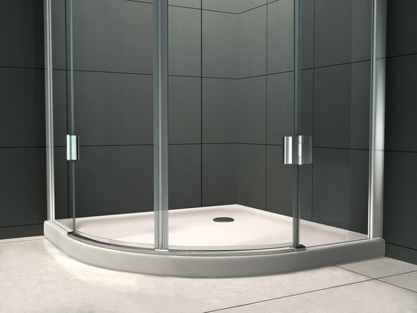 Piatto doccia semicircolare modalit di apertura e - Piatti doccia piccoli ...