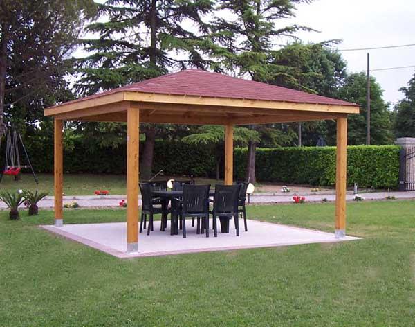Gazebo legno offerte pannelli termoisolanti - Pergola giardino ...