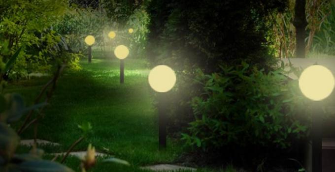 lampade da giardino a energia solare