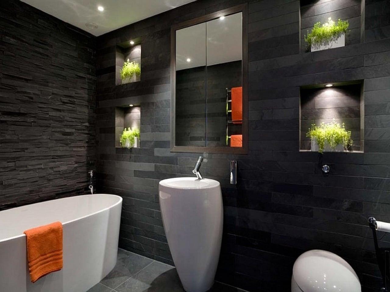 Bagni neri, giochi di contrasti per una stanza da bagno elegante e stilosa!