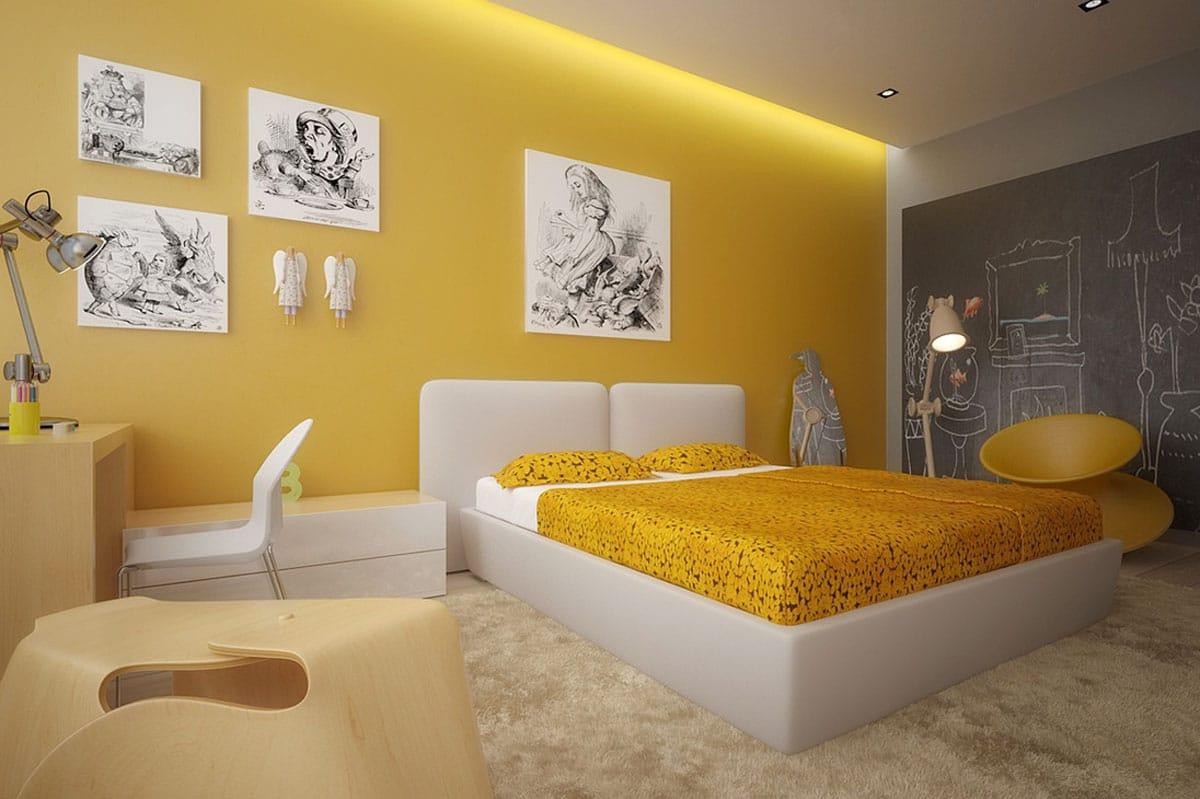 colori camera da letto giallo