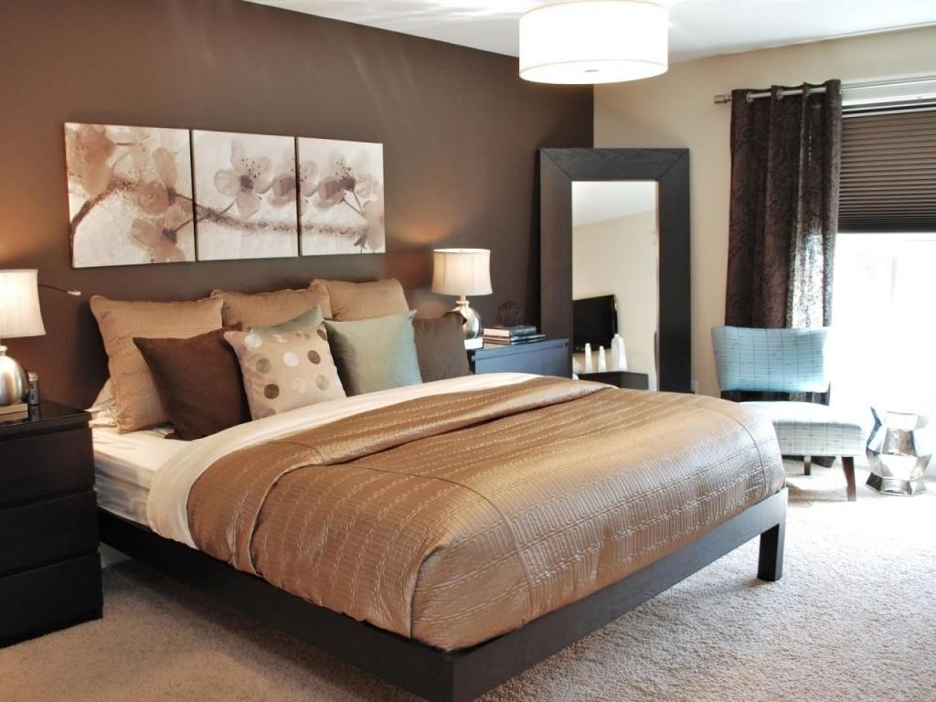 colori camera da letto marrone