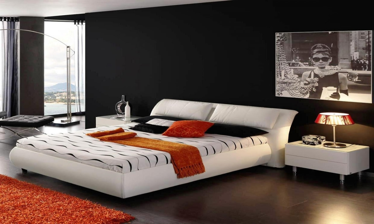 Colori camera da letto i gusti rispecchiano la for Arredamento camera da letto nero