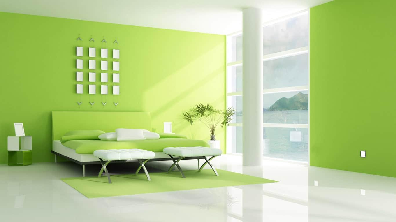 colori camera da letto verde