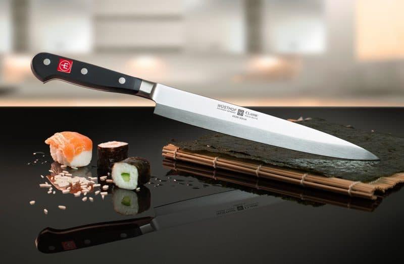 coltello sushi stuoia