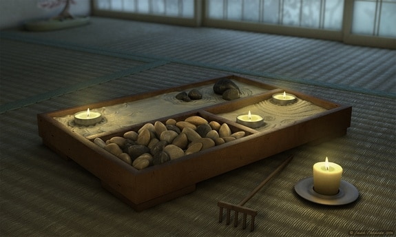 camera da letto zen giardino