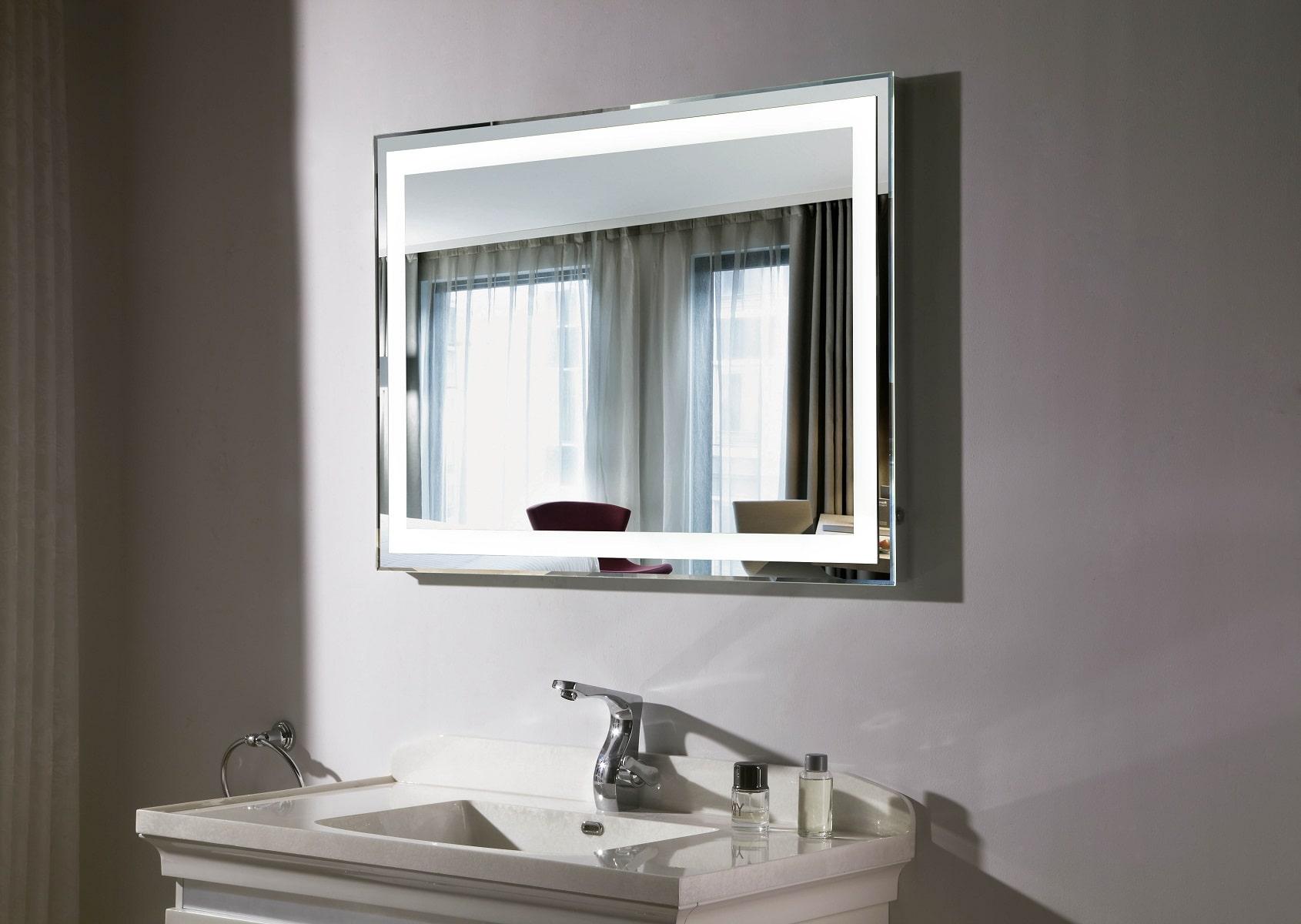 specchio bagno cornice led