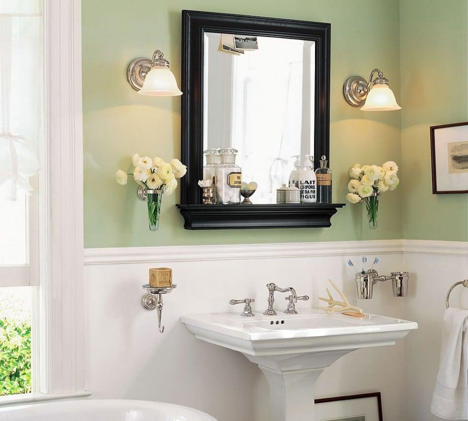 specchio bagno legno