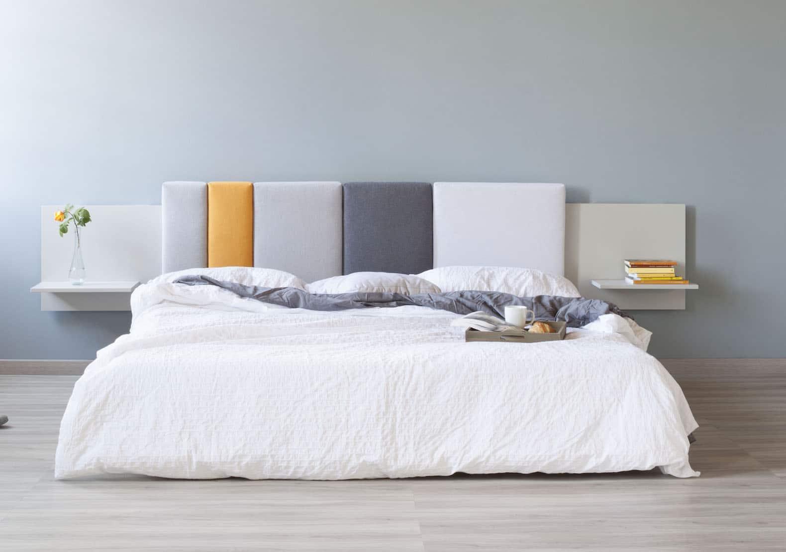 Una camera da letto confortevole e bella basta qualche trucchetto - Testiera letto a muro ...