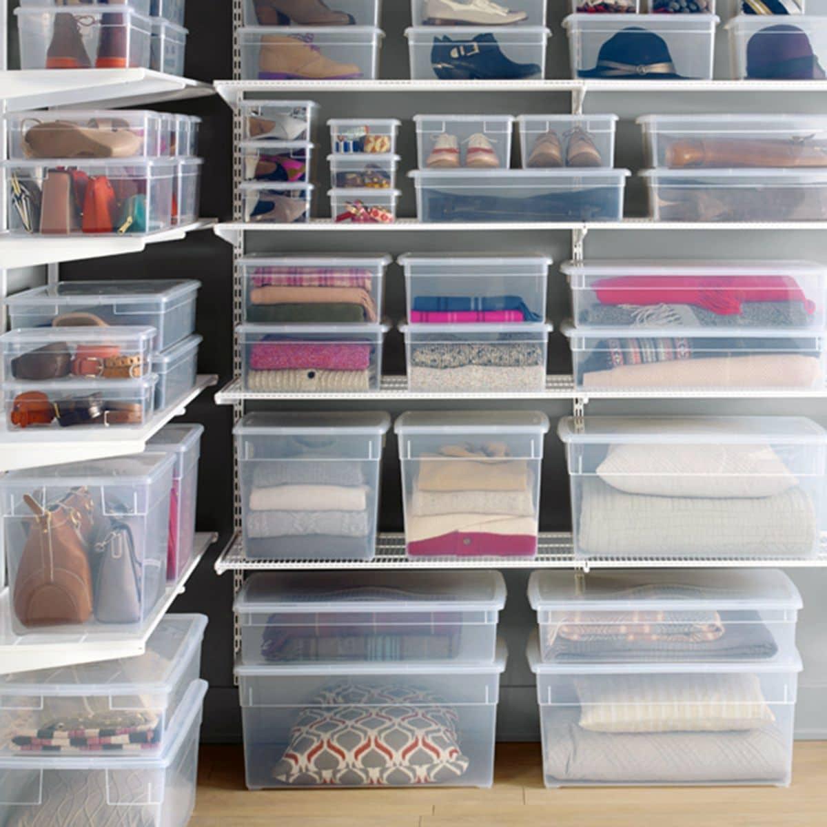 scatole portaoggetti trasparente