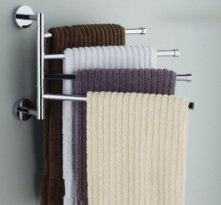 porta asciugamani da parete rotante