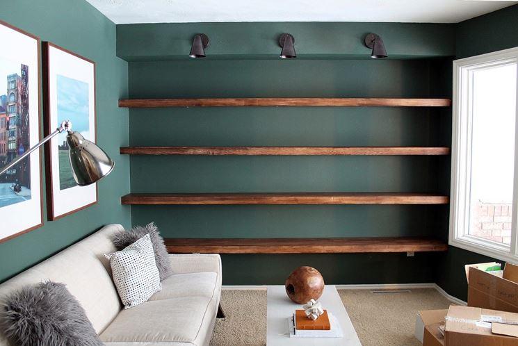 libreria fai da te listoni di legno