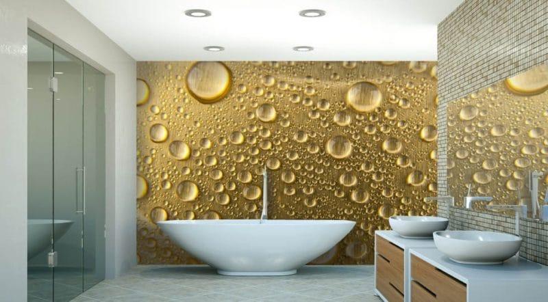 Rivestimenti bagno 5 idee arredo 2018 vesto casa for Carta da parati 3d bagno