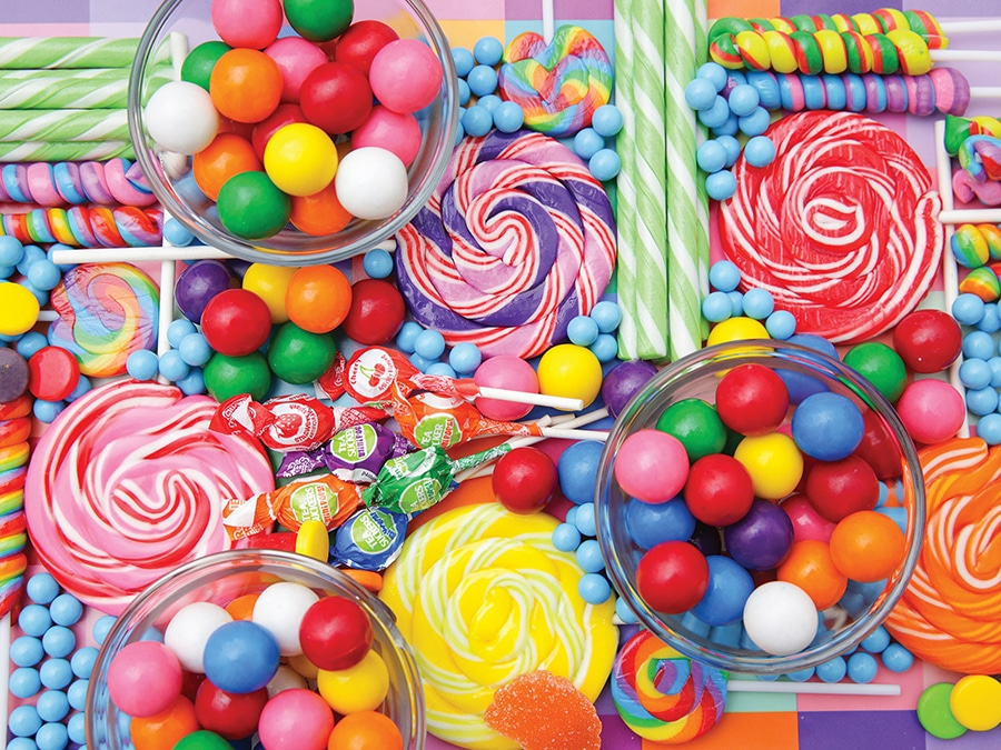marche di caramelle caramelle colorate