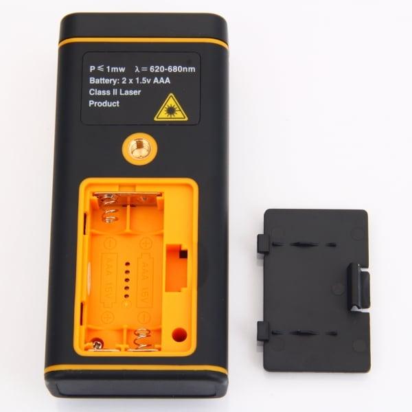 misuratore laser batteria