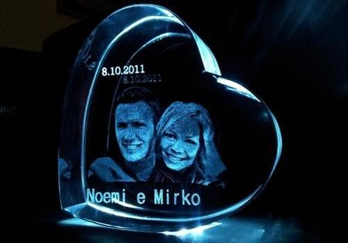 Foto 3D cristallo
