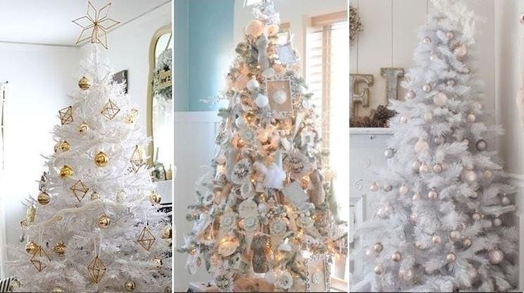 Albero Di Natale Bianco.L Albero Di Natale Bianco Vesto Casa