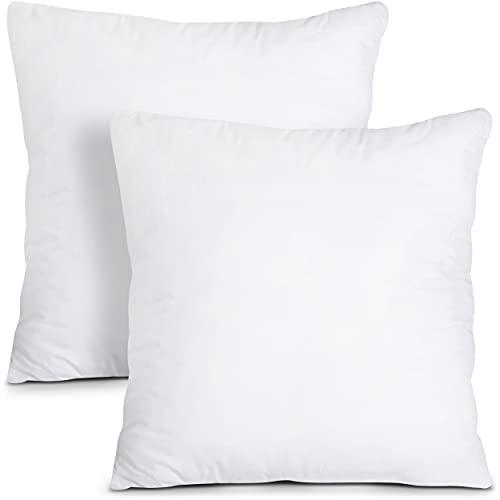 Utopia Bedding Set di 2 Cuscini - 45 x 45 cm Imbottitura per Cuscini - Tessuto Misto Cotone Cuscini Divano - Cuscino Interno (Bianco)
