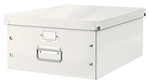 Leitz Click & Store WOW - Scatola Per Archiviazione Universale, L, Bianco Metallizato