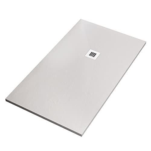 OLIMPO DOCCE Piatto Doccia in marmoresina Bianco Effetto Pietra Cemento Star Plus - 70x100
