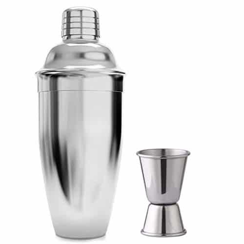 26 once 750 ml, shaker per accessori Shaker per Cocktail in acciaio inossidabile Colino da barman integrato con misurini 15/30 ml Set di bevande