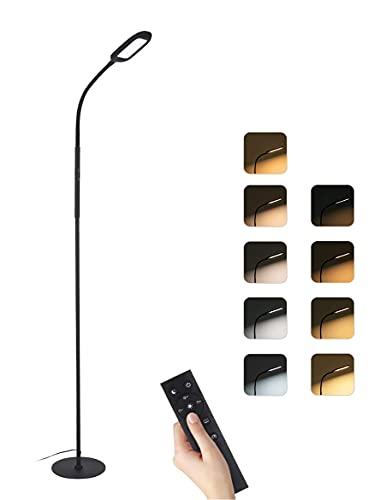 Lampada da Terra con Telecomando 126 LED Lampada da Pavimento Lampada a Stelo in LED, per Soggiorno, Camera da letto e altre stanze [Classe di efficienza energetica A+]