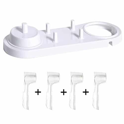 Nincha, supporto per spazzolino elettrico con supporti per testine per spazzolino elettrico + 4 copri testine per Oral-B