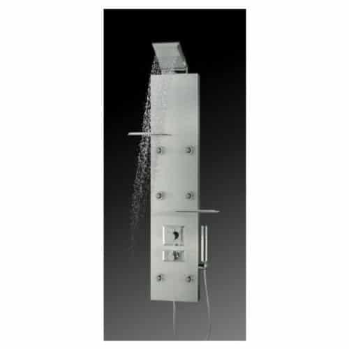 Colonna doccia Dedra alluminio termostatico