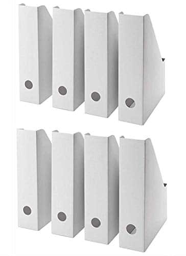 2 X IKEA FLUNS White Magazine file Holder pack of 4 by Other