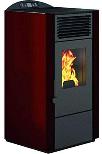 EVA CALOR - Stufa a Pellet Lory Potenza Termica 9 kW Colore Rosso