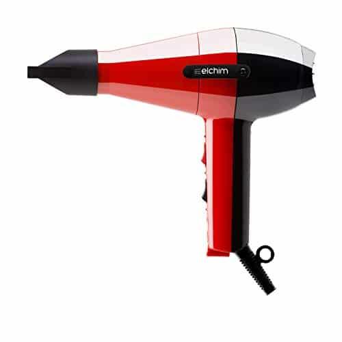 Phon per capelli Elchim 2001 HP Rosso&Nero | Asciugacapelli Professionale Made in Italy | Due Velocità | Cinque temperature | Motore di Lunga Durata | Per Capelli Morbidi e Setosi |1700-2000W 220-240V