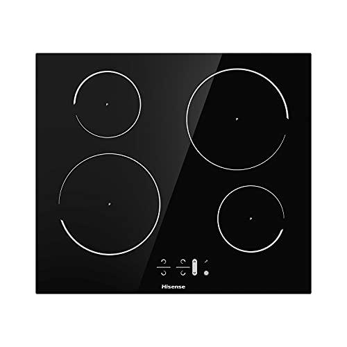 Hisense I6421C, piano cottura a induzione, 4 zone di cottura, larghezza 60 cm, funzione Power Boost, timer di cottura, Colore Nero