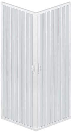 Box Doccia A Soffietto Liberte' 70x70 CM Angolare Riducibile Colore Bianco Pastello