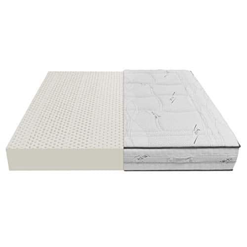 Baldiflex Emporio Materasso Lattice Matrimoniale 160x190 cm Alto 20 cm con 7 Zone a Portanza Differenziata e Fodera in Tessuto Silver Care Sfoderabile Antiacaro e Traspirante
