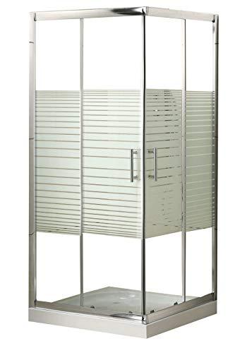 Box doccia rettangolare in cristallo vetro 5 mm. dimensione cm. 80x80 mod. Katariina