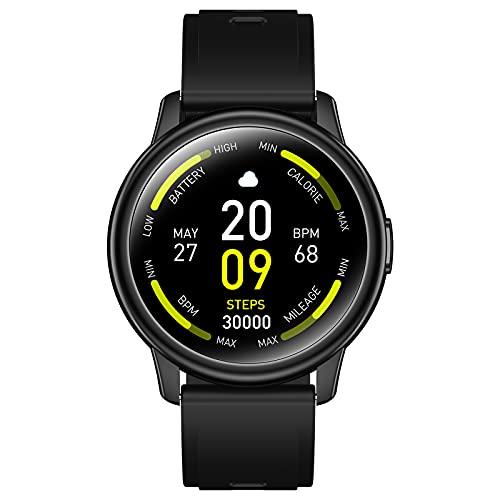 Smartwatch, Cillso Rotondo Orologio Fitness 1,3'' Smart Watch Uomo Donna, IP68 Fitness Tracker Sportivo, Cardiofrequenzimetro da Contapassi Calorie Cronometro Smartband Sportwatch per Android iOS 2021