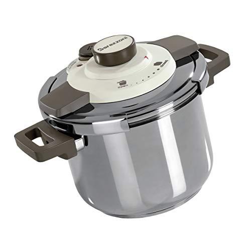 Barazzoni, Acciaio Pentola a Pressione Dual System Facile, Capacità 6 lt, ø 22cm, Inox 18/10, Made in Italy, 6 litri